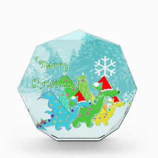 Merry Christmas Cartoon Dragons Decoration Award