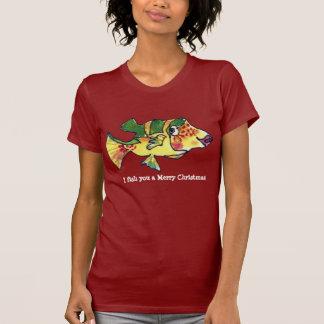 Merry Christmas Cartoon Fish  11 T Shirts