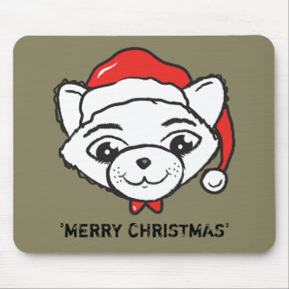 Merry Christmas Cat Mouse Pad