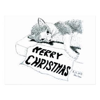 Merry Christmas---- Cat Postcard