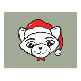 Merry Christmas Cat Postcard
