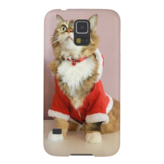 Merry Christmas cat santa puss Case For Galaxy S5