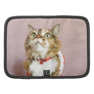 Merry Christmas cat santa puss Folio Planner