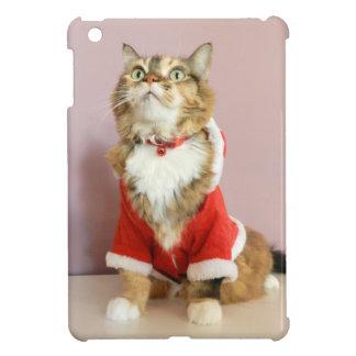 Merry Christmas cat santa puss Case For The iPad Mini