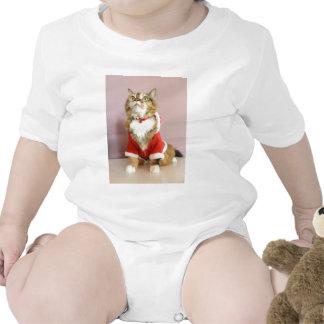 Merry Christmas cat santa puss Tshirts