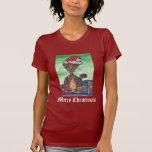 Merry Christmas Cat T Shirt
