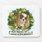 Merry Christmas Cavalier Mouse Pad