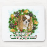 Merry Christmas Cavalier Mousepad