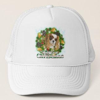 Merry Christmas Cavalier Trucker Hat