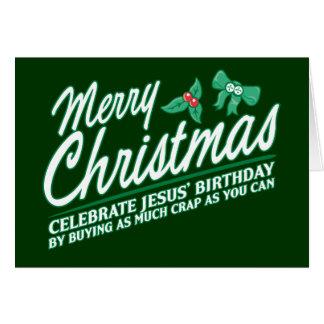 Merry Christmas - Celebrate Jesus' Birthday Card