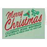 Merry Christmas - Celebrate Jesus' Birthday Cards