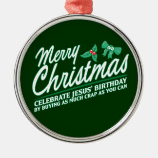 Merry Christmas - Celebrate Jesus Birthday Christmas Tree Ornaments