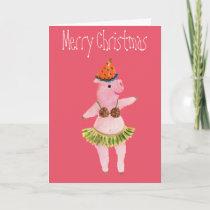 Merry Christmas, Celebration Pig, Coconut Bra Card
