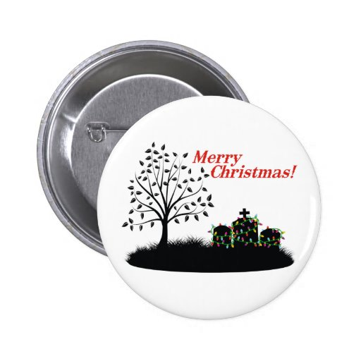 Merry Christmas! - Cemetery 2 Inch Round Button