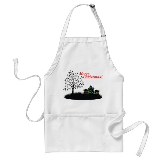 Merry Christmas! - Cemetery Adult Apron