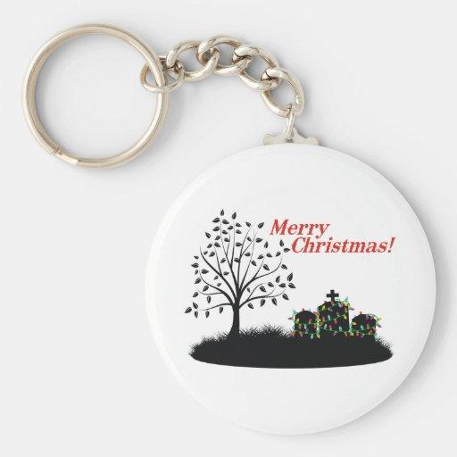 Merry Christmas! - Cemetery Keychain