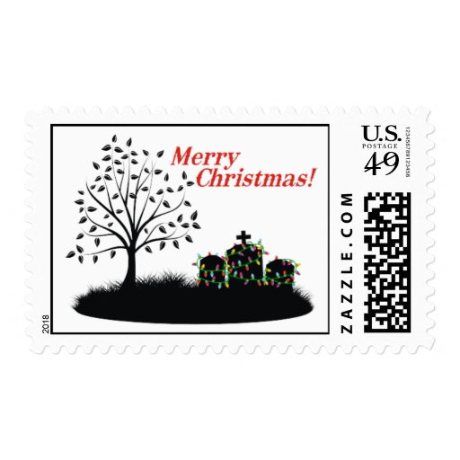 Merry Christmas! - Cemetery Lights Stamp