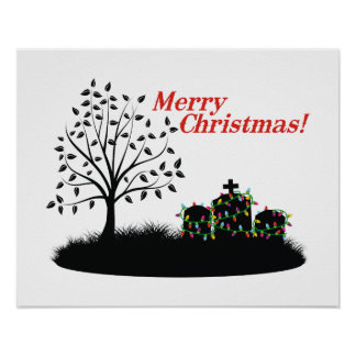 Merry Christmas! - Cemetery Poster