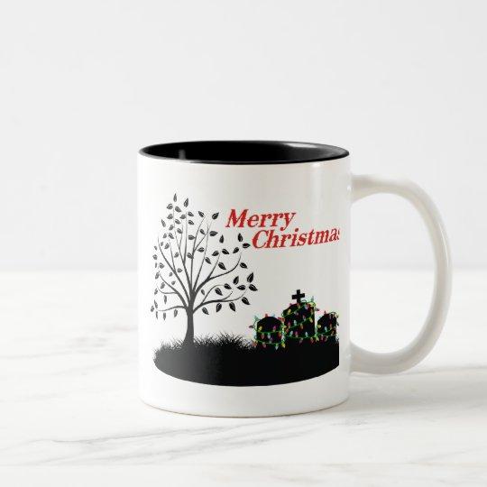 Merry Christmas! - Cemetery Two-Tone Coffee Mug