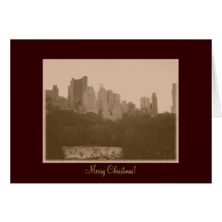 Merry Christmas - Central Park Ice Skating Rink Greeting Card