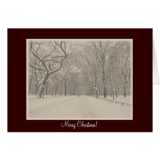 Merry Christmas - Central Park Poet's Walk Winter Greeting Card