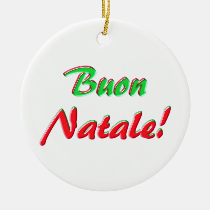 Merry Christmas Ceramic Ornament