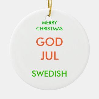 MERRY CHRISTMAS, CERAMIC ORNAMENT