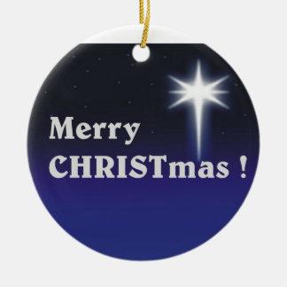 Merry CHRISTmas ! Ceramic Ornament