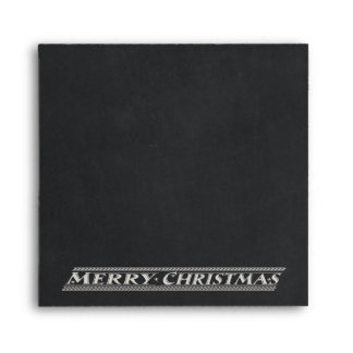 MERRY CHRISTMAS CHALKBOARD - BLACKBOARD ENVELOPE