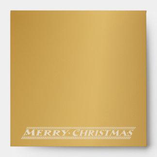 MERRY CHRISTMAS CHALKBOARD - GOLD ENVELOPE