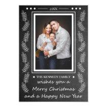 Merry Christmas Chalkboard Holiday Greetings Card