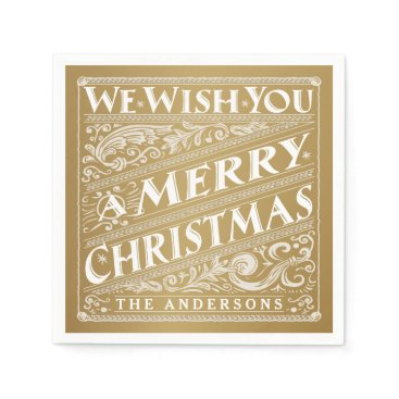 Christmas Themed MERRY CHRISTMAS CHALKBOARD PERSONALIZED NAPKINS