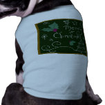 Merry Christmas Chalkboard Pet Clothing