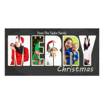 Merry Christmas Chalkboard Photo Template