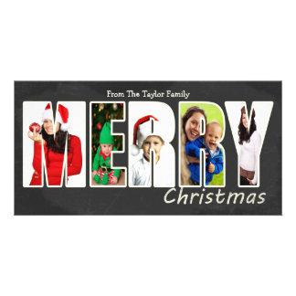 Merry Christmas Chalkboard Photo Template