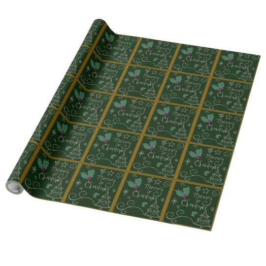 Merry Christmas Chalkboard Wrapping Paper