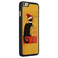 Merry Christmas -  Chat Noir Carved® Maple iPhone 6 Plus Slim Case