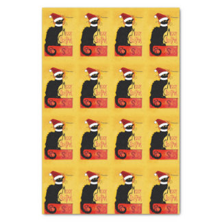 """Merry Christmas -  Chat Noir 10"""" X 15"""" Tissue Paper"""