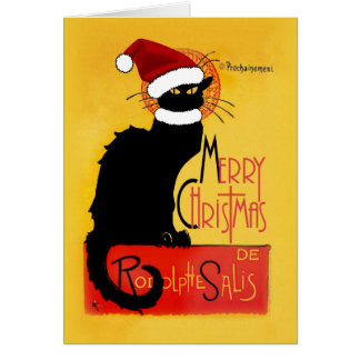 Merry Christmas -  Chat Noir Greeting Cards