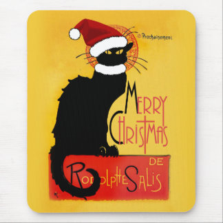 Merry Christmas -  Chat Noir Mouse Pad
