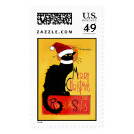 Merry Christmas - Chat Noir Postage