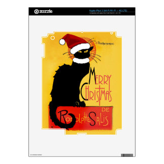 Merry Christmas -  Chat Noir iPad 3 Decal