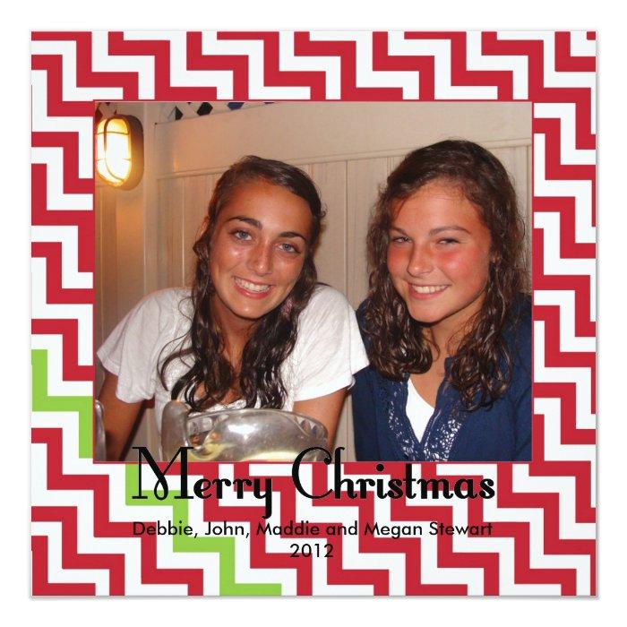 Merry Christmas Chevron Card
