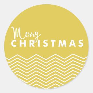 Merry Christmas Chevron | Holiday Sticker