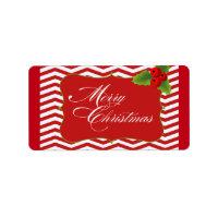 Merry Christmas Chevron Labels