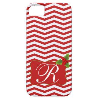 Merry Christmas Chevron Monogram iPhone SE/5/5s Case
