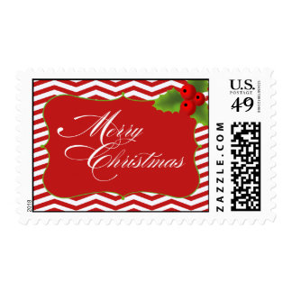 Merry Christmas Chevron Stamps