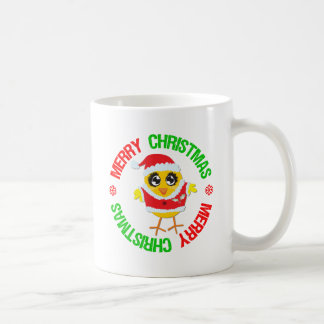 Merry Christmas Chick Snowflake Classic White Coffee Mug