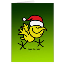 Merry Christmas Chicken Card