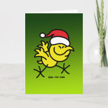 Merry Christmas Chicken Holiday Card